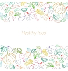 Text placeholder green vegetables background vector image vector image