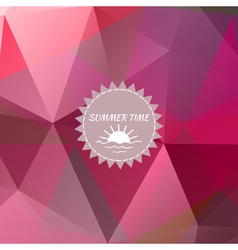Abstract background with red triangles and logo vector image