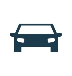 auto blue car transportation icon graphic vector image