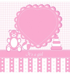 Baby girl shower invitation ca vector