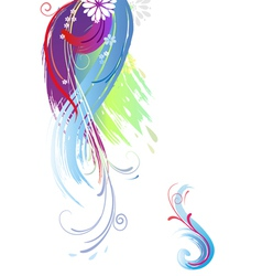 background of color brush stroke vector image