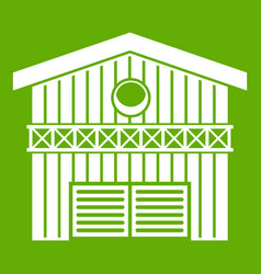 barn for animals icon green vector image