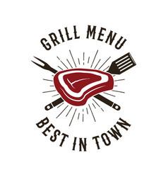 Bbq emblem design summer barbecue logo vector