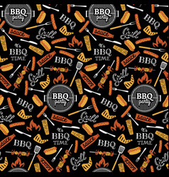 Bbq party seamless pattern vector