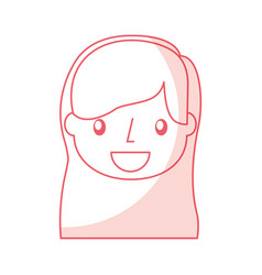 Beautiful icon girl vector
