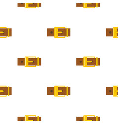 Belt with yellow square buckle pattern flat vector