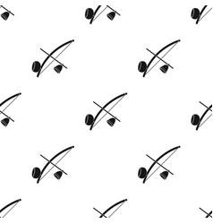 berimbau icon in black style isolated on white vector image