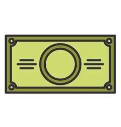 bill money dollar isolated icon vector image