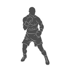 Boxer man mixed martial arts fighter vector