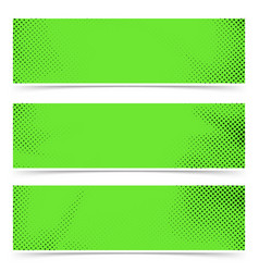 Bright green old style pop art header flyer vector