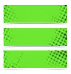 bright green old style pop art header flyer vector image