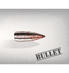 bullet background concept vector image