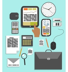 Business work elements vector image