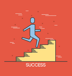 businesspeople climbing stair success progress vector image