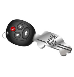 car key symbol for rental and sale vector image