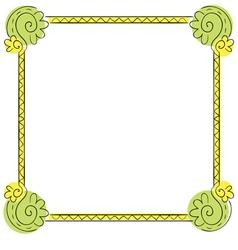 Childrens frame on white background vector