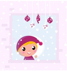 christmas child vector image