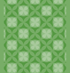 circles pattern green background vector image