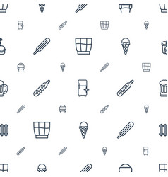 cold icons pattern seamless white background vector image