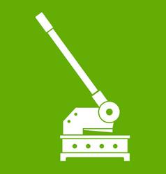 Cutting machine icon green vector
