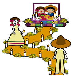 day of the dead in mexico 4 vector image