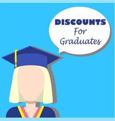 discounts for graduates background vector image