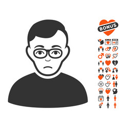 downer icon with lovely bonus vector image