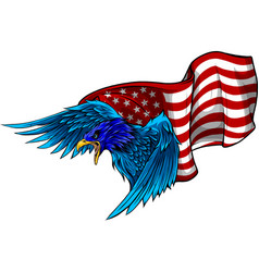 Eagle independence usa flag america white vector