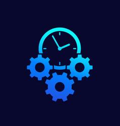 Efficiency efficient process icon vector