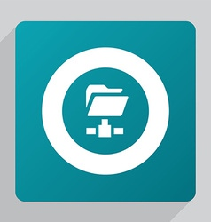 flat web folder icon vector image