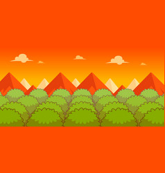 Forest evening game background vector
