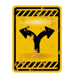 Forked road sign vector image