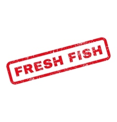Fresh Fish Text Rubber Stamp vector