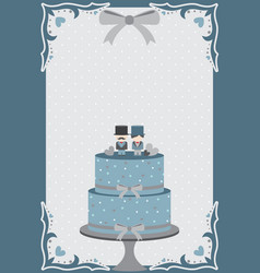 Gay wedding cake vector
