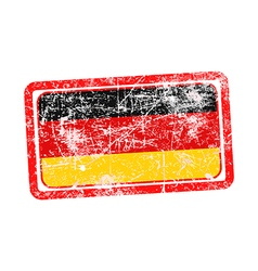 germany flag red grunge rubber stamp vector image