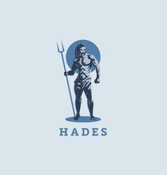 god hades or pluto emblem vector image
