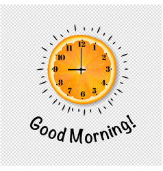 good morning banner with orange transparent vector image