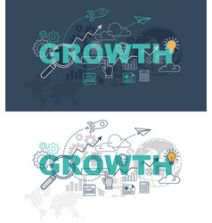 growth website banner design concept vector image