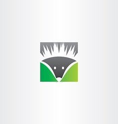 hedgehog logo icon vector image