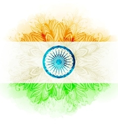 indian flag in watercolor background vector image