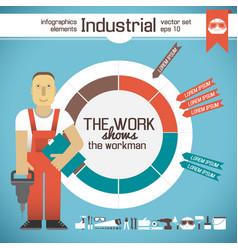 Industrial infographic elements vector