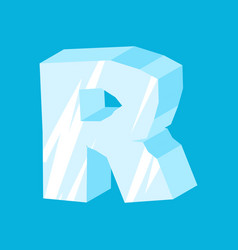 Letter r ice font icicles alphabet freeze vector