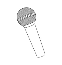 monochrome contour with wireless microphone vector image vector image