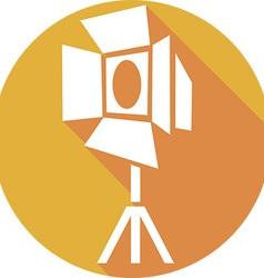 Movie Spotlight Icon vector image