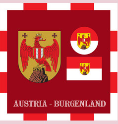 National ensigns of burgenland - austria vector