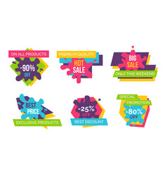 on all products -90 off on vector image