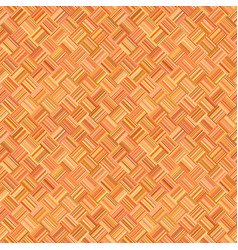 orange abstract repeating diagonal striped square vector image