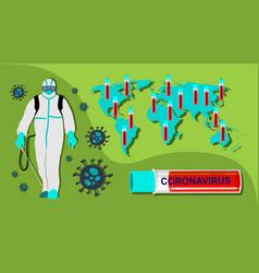Pandemic - corona virus - death crown vector