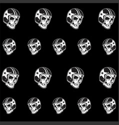 Pattern retro skull bikers hand drawingshirt vector