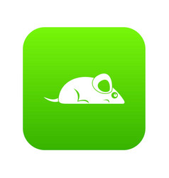 Pet mouse icon digital green vector